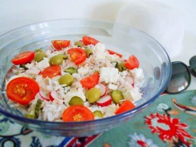 Salade de riz sans gluten