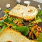Salade de chèvre chaud sans gluten