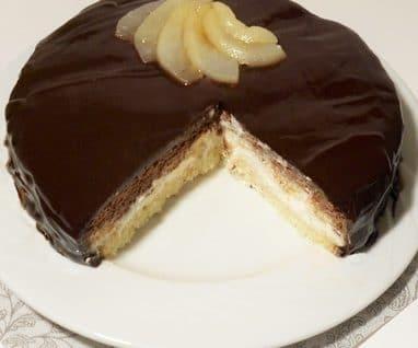 entremet poire chocolat sans gluten