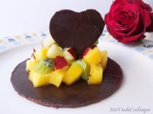 tartare de fruits au chocolat sans gluten