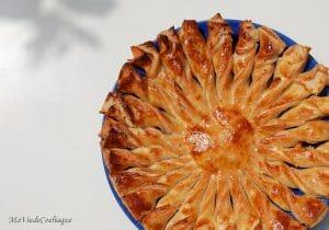 tarte soleil sans gluten au saumon