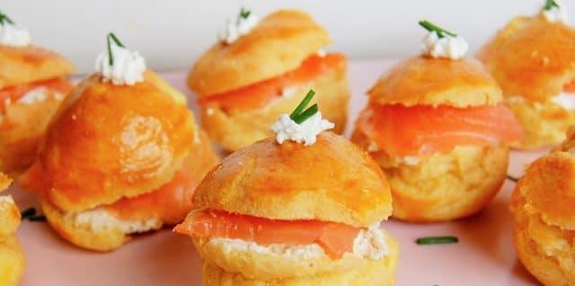 choux salés sans gluten au saumon