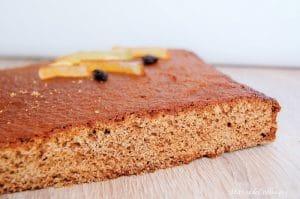 pain d'épices sans gluten sans lactose plat