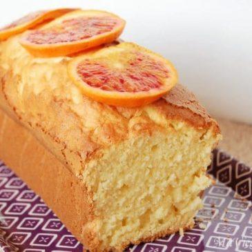 Cake à l'orange sanguine sans gluten sans lactose