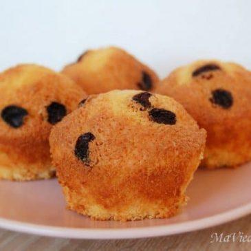Muffins Sans Gluten vanille raisins secs