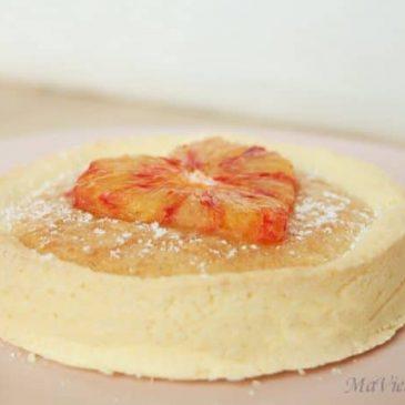 Tartelette à l'orange sanguine sans gluten / lactose