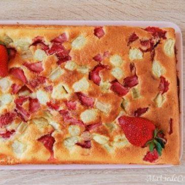Gâteau fraise rhubarbe sans gluten sans lactose