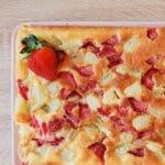 gâteau fraises rhubarbe sans gluten sans lactose