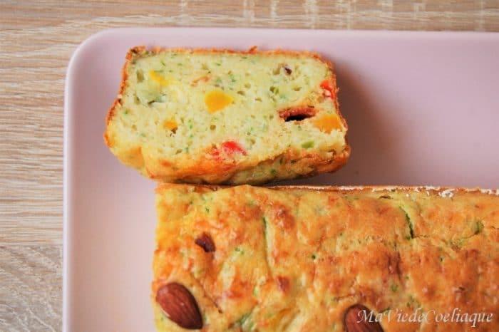 cake salé poivrons chorizo sans gluten.