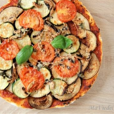 Pizza d'été sans gluten
