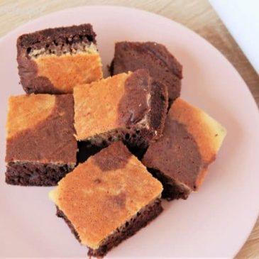 Brownie marbré sans gluten