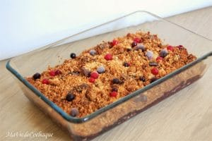 crumble fruits rouges sans gluten sans lactose