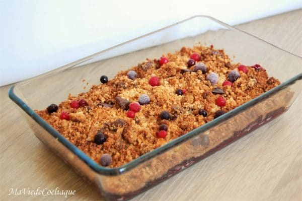 crumble fruits rouges sans gluten sans lactose