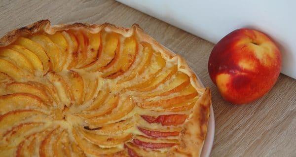 tarte aux nectarines sans gluten sans lactose