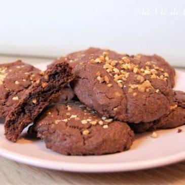 Cookies chocolat pralin sans gluten sans lactose