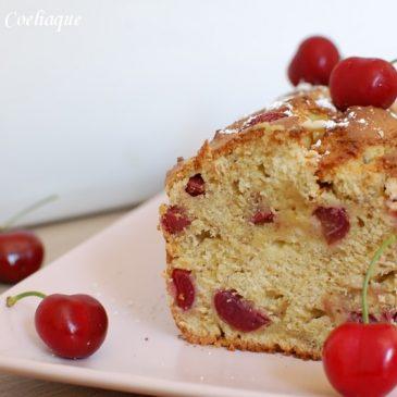 Cake cerise pistache sans gluten sans lactose