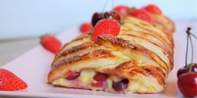 feuilleté aux fraises sans gluten