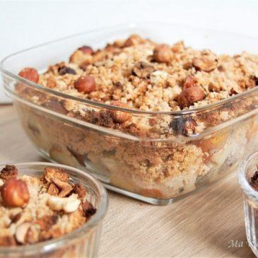 Crumble poires noisettes sans gluten