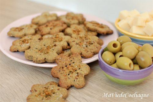 Biscuits Apéritif Sans Gluten Sans Lactose