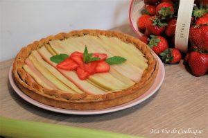 tarte fraises rhubarbe sans gluten
